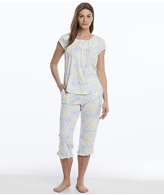 Eileen West Cap Sleeve Woven Pajama Set