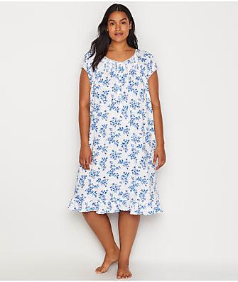 Eileen West Plus Size Floral Knit Waltz Nightgown