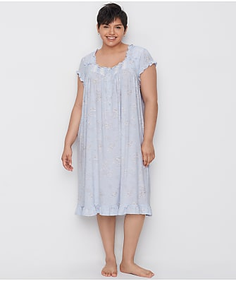 Eileen West Plus Size Floral Waltz Modal Nightgown