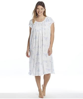 Eileen West Plus Size Waltz Cotton Knit Nightgown