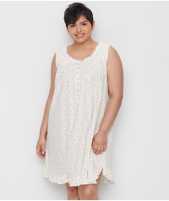 Eileen West Plus Size Butter Rose Knit Chemise