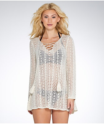 Elan Crochet Hooded Cover-Up