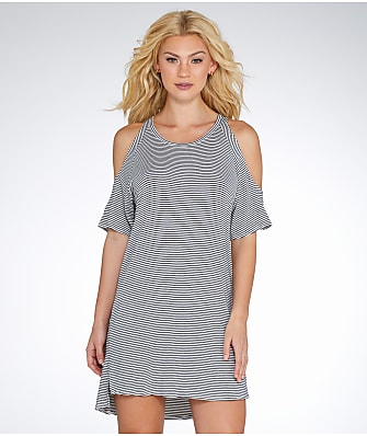 Elan Cold Shoulder Cover-Up Dress