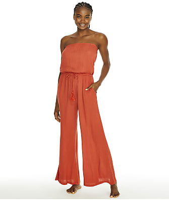 Elan Strapless Jumpsuit Cover-Up