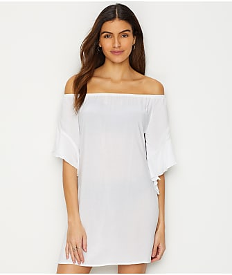 Elan Off-The-Shoulder Swim Cover-Up