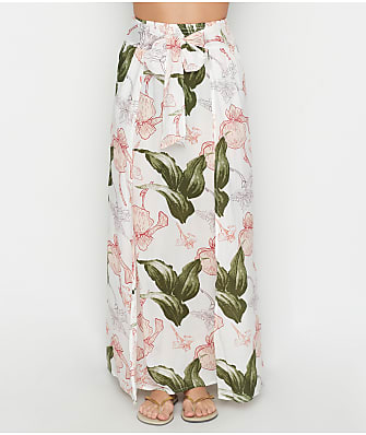Elan Floral Maxi Skirt Swim Cover-Up