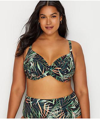 Elomi Plus Size Amazonia Tropical Plunge Bikini Top