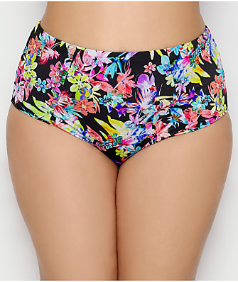 Elomi Plus Size Electroflower High-Waist Bikini Bottom