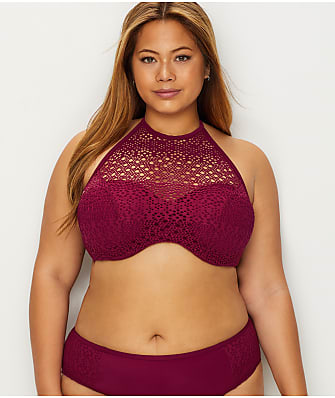 Elomi Indie High Neck Bikini Top