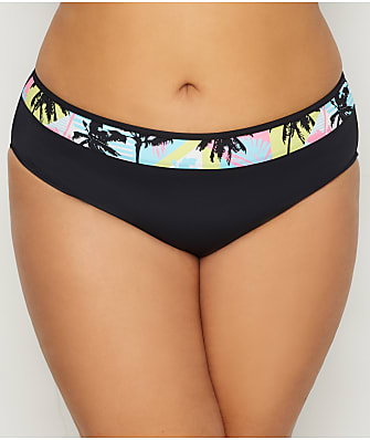Elomi Plus Size Malibu Days Mid-Rise Bikini Bottom
