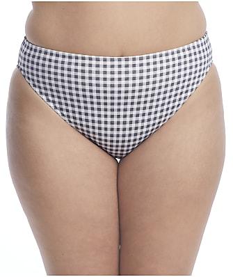 Elomi Plus Size Checkmate Mid-Rise Bikini Bottom
