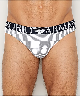 Emporio Armani Sailor Striped Micro Thong