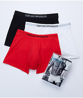 Emporio Armani Pure Cotton Boxer Brief 3-Pack
