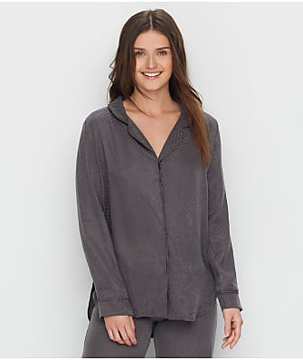Felina Lounge Izar Jacquard Woven Pajama Shirt