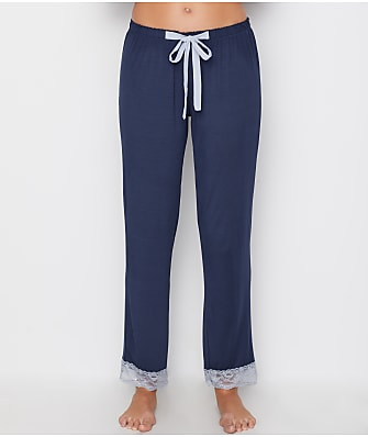 Flora Nikrooz Lace Trimmed Modal Pajama Pants