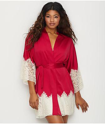 Flora Nikrooz Genevive Charmeuse Kimono Robe