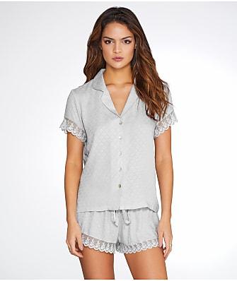 Flora Nikrooz Laurel Jacquard Woven Pajama Set