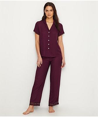 Flora Nikrooz Jacquared Woven Pajama Set