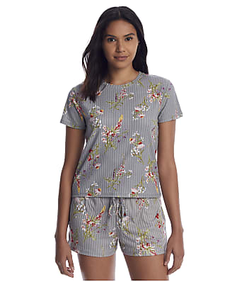 Flora Nikrooz Bella Print Rib Knit Pajama Set