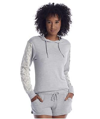 Flora Nikrooz Heather Grey Knit Hoodie Pajama Set
