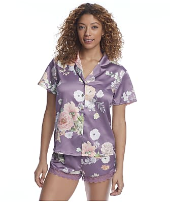 Flora Nikrooz Floral Charmeuse Pajama Set
