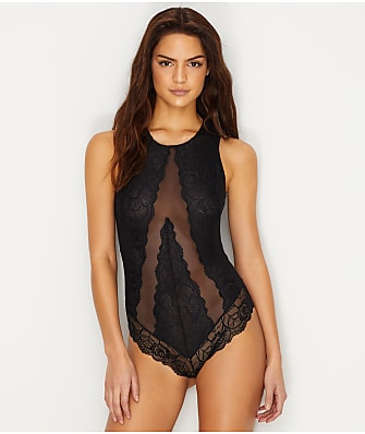 Flora by Flora Nikrooz Stretch Lace Mesh Bodysuit