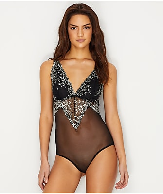 Flora by Flora Nikrooz Ava Cross Dye Lace Bodysuit