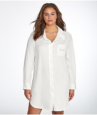 Flora by Flora Nikrooz Plus Size Tulla Knit Bride Sleep Shirt