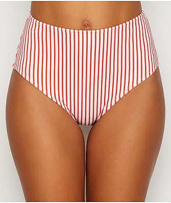 Freya Totally Stripe High-Waist Bikini Bottom
