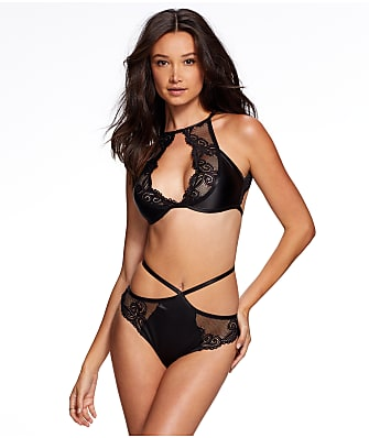 Frederick's of Hollywood Marina Satin & Lace Bra Set
