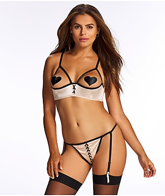 Frederick's of Hollywood Delta Gia Open Cup Bra Set