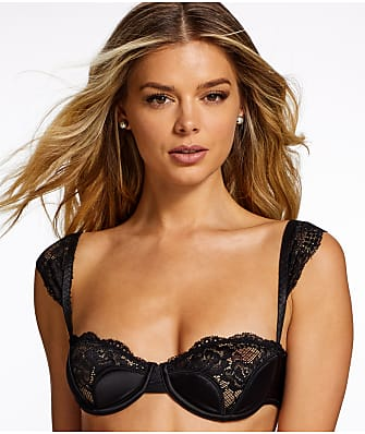 Frederick's of Hollywood Ilana Tulip Satin & Lace Bra