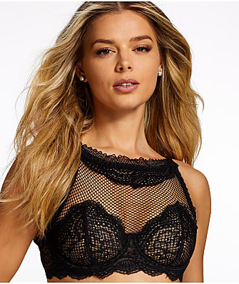 Frederick's of Hollywood Azura High Neck Sheer Bra