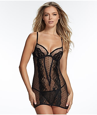 Frederick's of Hollywood Arielle Mesh Lace Chemise