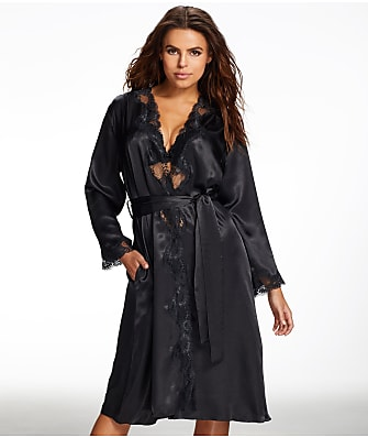 Frederick's of Hollywood Nicole Satin And Lace Robe