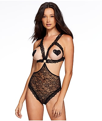 Frederick's of Hollywood Pearle Open Cup Lace Teddy
