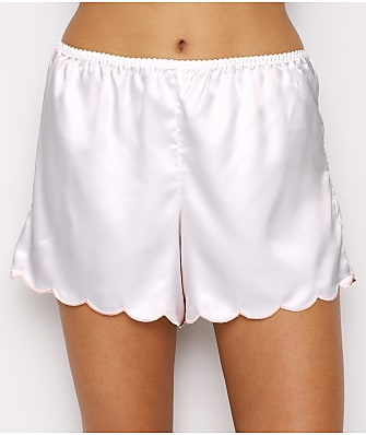 Ginia Embriodered Trim Satin Pajama Shorts