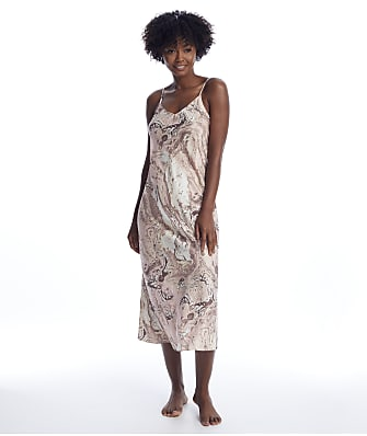Ginia Marble Collection Silk Long Gown