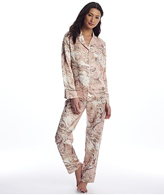 Ginia Marble Collection Silk Pajama Set