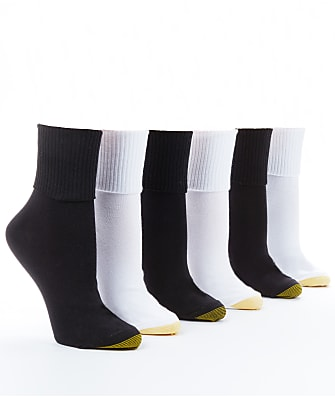 Gold Toe Anklet Low-Cut Socks 6-Pack