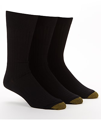 Gold Toe Canterbury Dress Socks 3-Pack Extended Sizes
