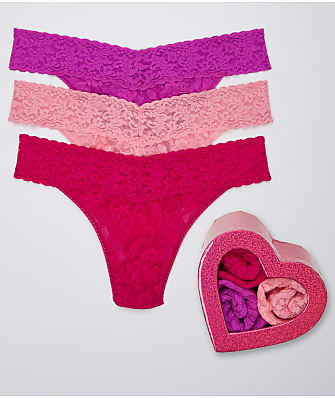 Hanky Panky Valentine's Day Original Rise Thong 3-Pack