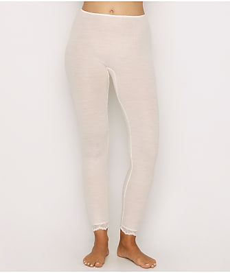 Hanro Woolen Lace Ribbed Lounge Leggings