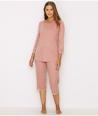 Hanro Moments Cropped  Knit Pajama Set