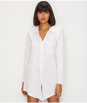 Hanro Cotton Deluxe Knit Sleep Shirt