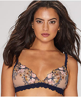 Hanky Panky Embroidered Denim Bralette