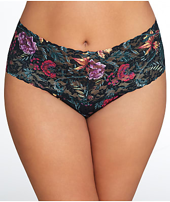 Hanky Panky Plus Size Moody Bloom Retro Thong
