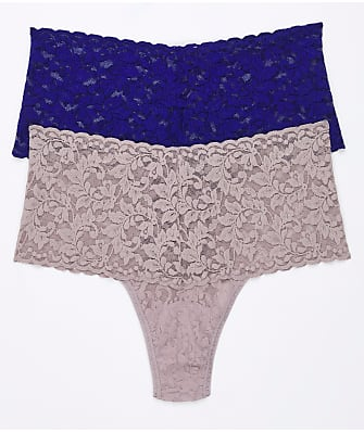Hanky Panky Signature Lace Retro Thong 2-Pack