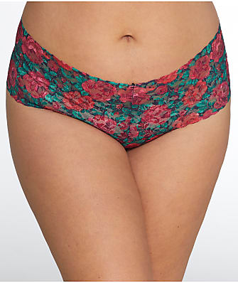Hanky Panky Plus Size Roses Are Red Retro Thong