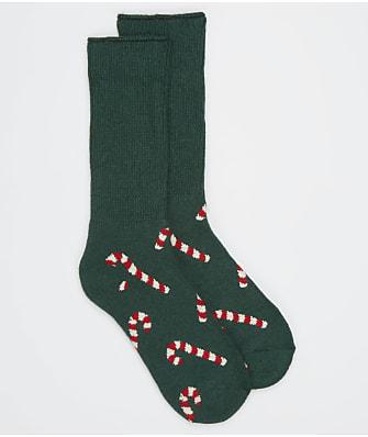 Happy Socks Candy Cane Cozy Crew Socks